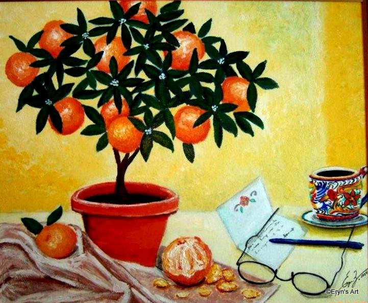 Orange Tree Still Life